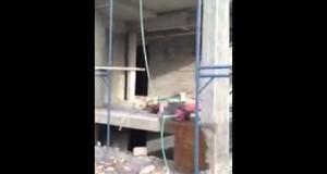فيديو/ سرقة مياه الدولة لبناء عمارة شاهقة بمنطقة المهبولة